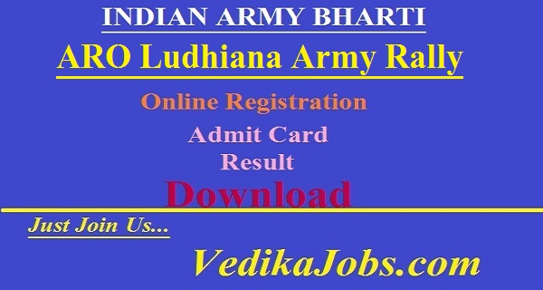 ARO Ludhiana Army Rally Bharti 2019 - Rally Date 10 to 20 March 2019