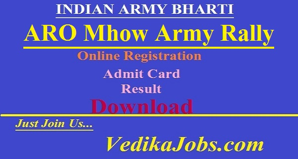ARO Mhow Army Rally Bharti 2019 - Ujjain Rally Date 20 to 30