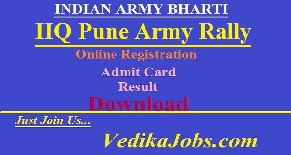 HQ Pune Army Rally Bharti 2019 - Apply Online for Soldier Posts